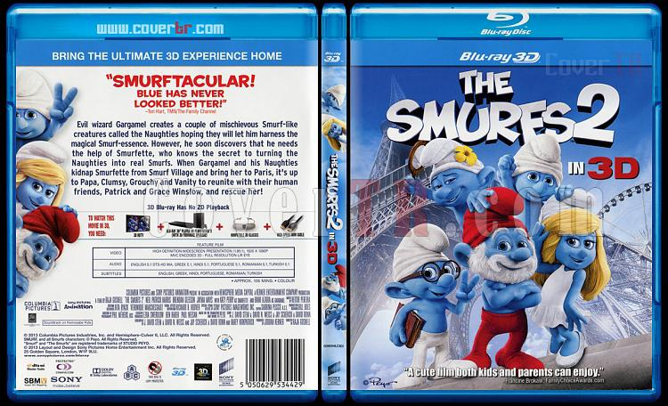 The Smurfs 2 (Şirinler 2) - Scan Bluray Cover - English [2013]-smurfs-2-sirinler-2-scan-bluray-cover-english-2013jpg