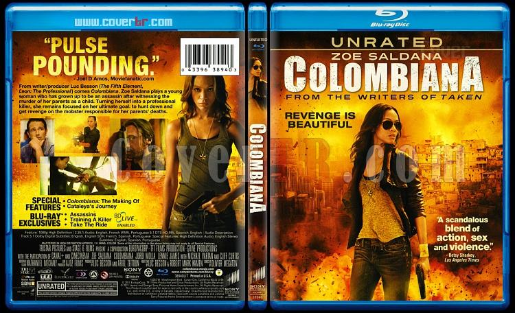 Colombiana (Kolombiyalı: Intikam Meleği) - Scan Blu-ray Cover - English [2011]-colombiana-blu-ray-scanjpg