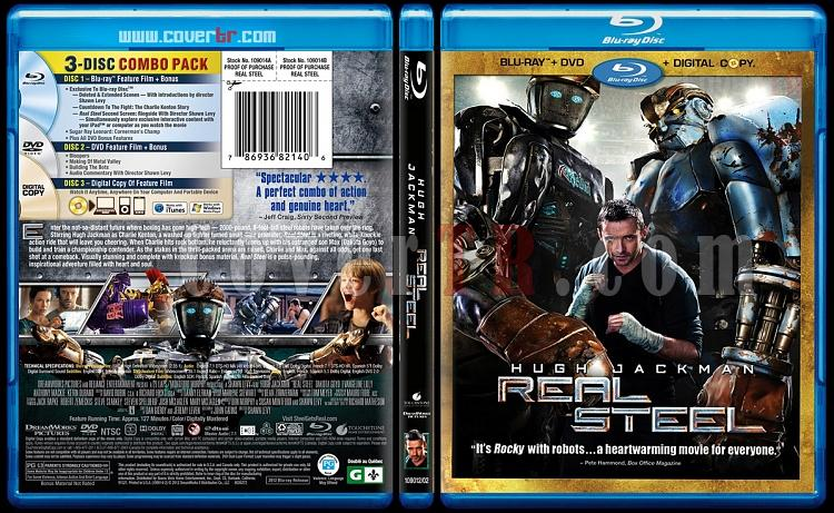 Real Steel (Çelik Yumruklar) - Scan Blu-ray Cover - English [2011]-real-steel-blu-ray-scan-v1jpg