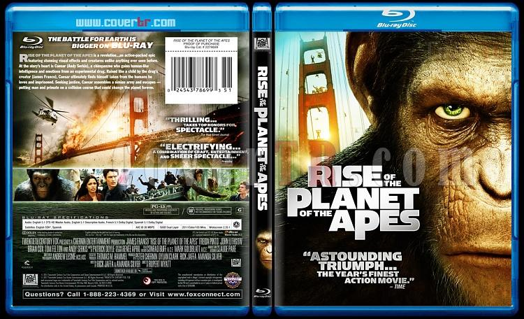 Rise of the Planet of the Apes (Maymunlar Cehennemi Başlangıç) - Blu-ray Cover - English [2011]-rise-planet-apesjpg