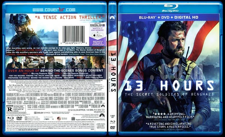 13 Hours: The Secret Soldiers of Benghazi (13 Saat Bingazi'nin Gizli Askerleri) - Scan Bluray Cover - English [2016]-13jpg