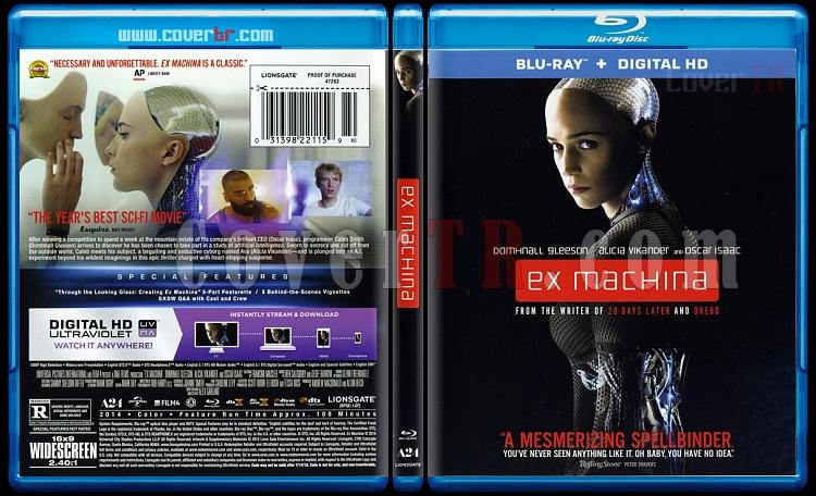 Ex Machina - Scan Bluray Cover - English [2015]-exjpg