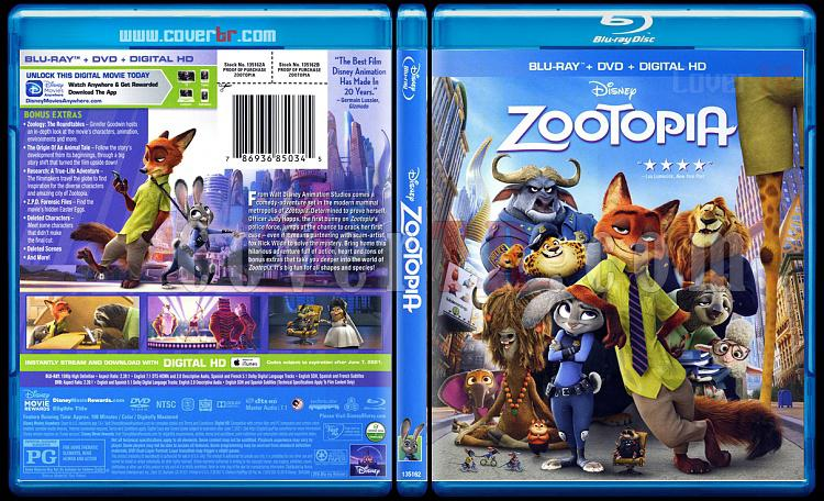 Zootopia (Zootropolis Hayvanlar Sehri) - Scan Bluray Cover - English [2016]-zoojpg
