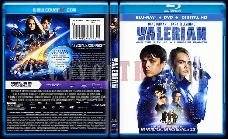 Valerian and the City of a Thousand Planets (Valerian ve Bin Gezegen İmparatorluğu) - Scan Bluray Cover - English [2017]-onizlemejpg