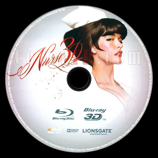 Nurse 3D - Scan Bluray Label - English [2013]-onizlemejpg