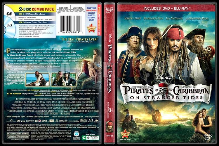 Pirates of the Caribbean: On Stranger Tides (Karayip Korsanları: Gizemli Denizlerde) - Scan Dvd Cover - English [2011]-onizlemejpg