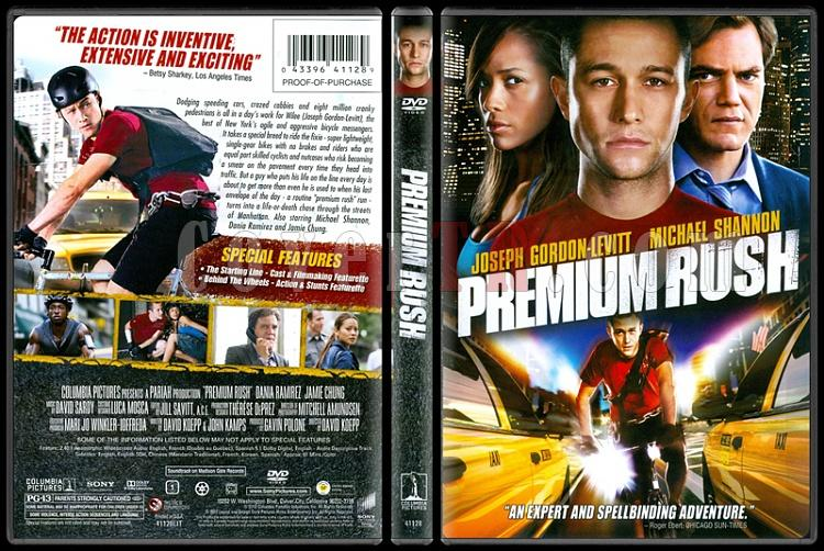 Premium Rush Acil Teslimat Scan Dvd Cover English 2012 Covertr