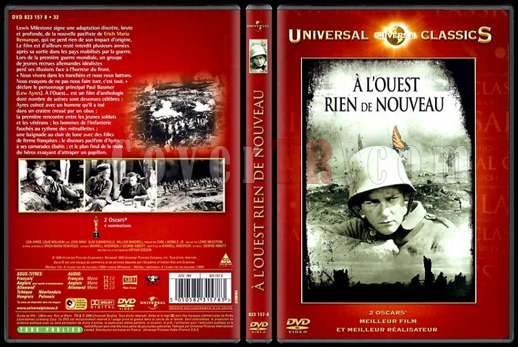 All Quiet on the Western Front (Batı Cephesinde Yeni Bir Şey Yok) - Custom Dvd Cover - French [1930]-all-quiet-western-front-bati-cephesinde-yeni-bir-sey-yok-custom-dvd-cover-english-1jpg