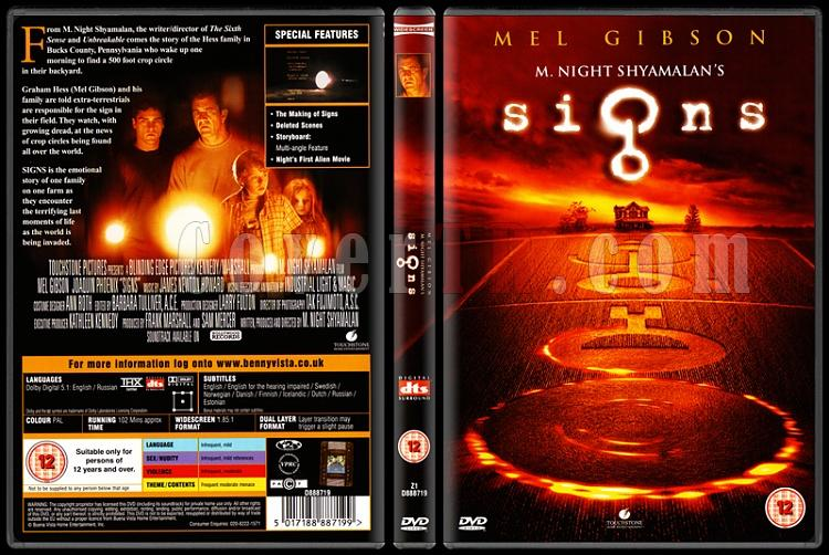 Signs (İşaretler) - Scan Dvd Cover - English [2001]-standardjpg