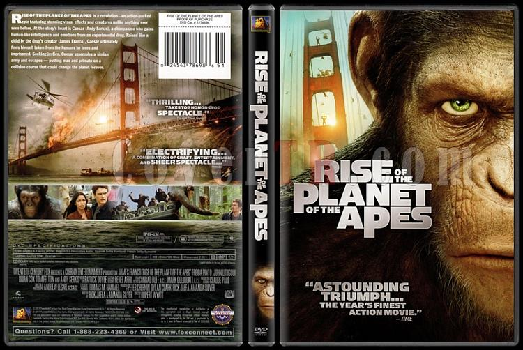 Rise of the Planet of the Apes (Maymunlar Cehennemi: Başlangıç) - Scan Dvd Cover - English [2011]-rise-planet-apes-maymunlar-cehennemi-baslangic-scan-dvd-cover-englishjpg