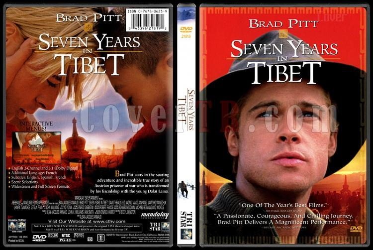 Seven Years in Tibet (Tibet'te Yedi Yıl) - Scan Dvd Cover - English [1997]-seven-years-tibet-tibette-yedi-yil-scan-dvd-cover-english-1997jpg