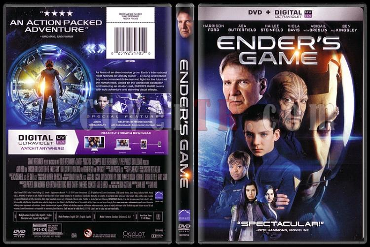 Ender's Game (Uzay Oyunları) - Scan Dvd Cover - English [2013]-endersjpg