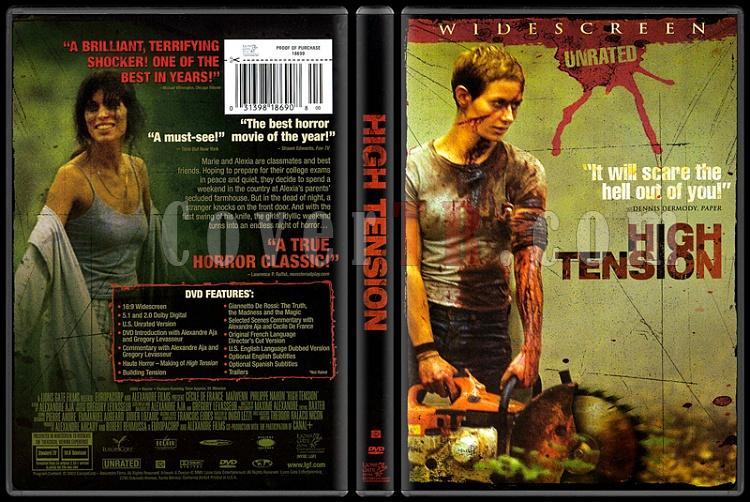 High Tension (Yüksek Tansiyon) - Scan Dvd Cover - English [2003]-onizlemejpg