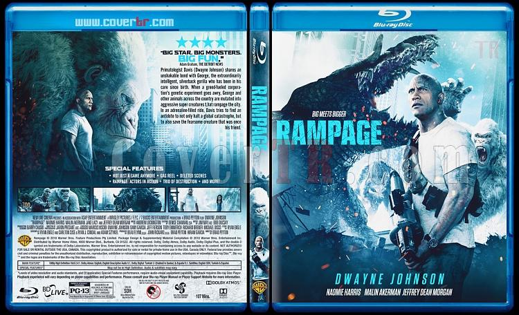 Rampage (Rampage: Büyük Yıkım) - Custom Bluray Cover - English [2018]-1jpg