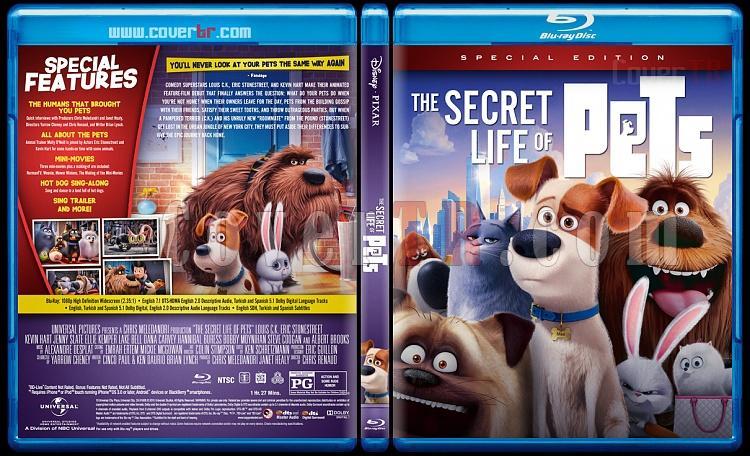 The Secret Life of Pets (Evcil Hayvanların Gizli Yaşamı) - Custom Bluray Cover - English [2015]-01jpg