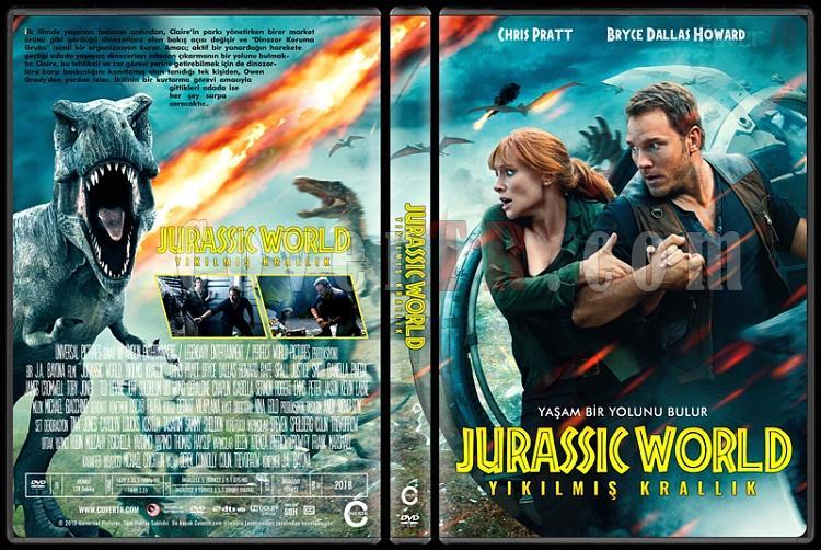 Jurassic World: Fallen Kingdom (Jurassic World: Yıkılmış Krallık) - Custom Dvd Cover - Türkçe [2018]-01jpg