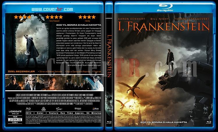 I, Frankenstein (Frankenstein: Ölümsüzlerin Savaşı) - Custom Bluray Cover - Türkçe [2014]-b2jpg