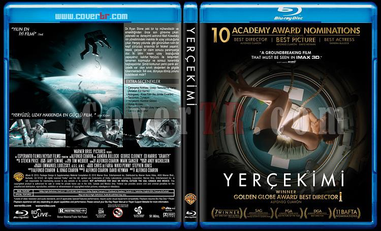 Gravity (Yerçekimi) - Custom Bluray Cover - Türkçe [2013]-gravityjpg