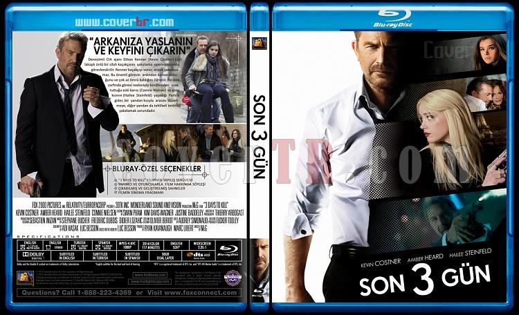3 Days To Kill (Son Üç Gün) - Custom Bluray Cover - Türkçe [2014]-3-daysjpg