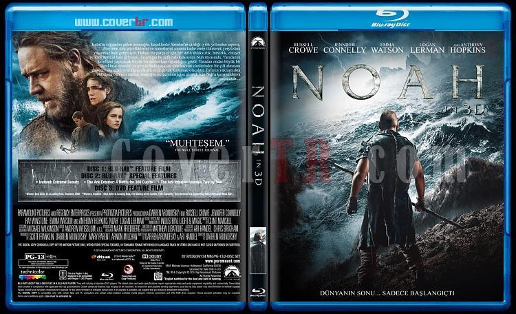 Noah (Nuh: Büyük Tufan) - Custom Bluray Cover - Türkçe [2014]-blu-ray-1-disc-flat-3173x1762-11mmjpg