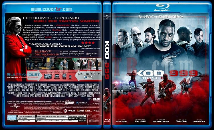 Triple 9 (Kod 999) - Custom Bluray Cover - Türkçe [2016]-triplejpg