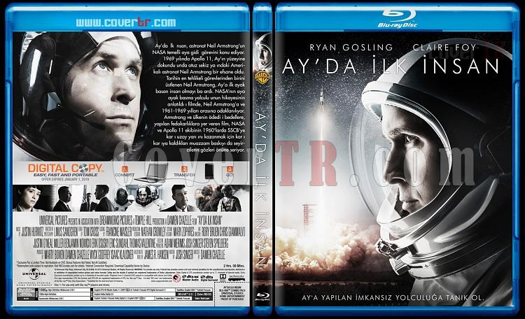 First Man (Ay'da İlk İnsan) - Custom Bluray Cover - Türkçe [2018]-4jpg