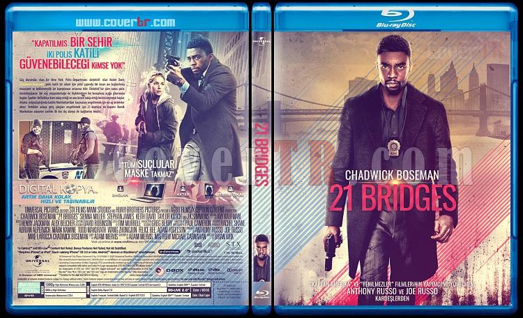 21 Bridges - Custom Bluray Cover - Türkçe [2020]-21-bridges-redjpg