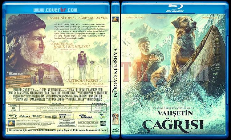 The Call of the Wild (Vahşetin Çağrısı) - Custom Bluray Cover - Türkçe [2020]-call-wildjpg
