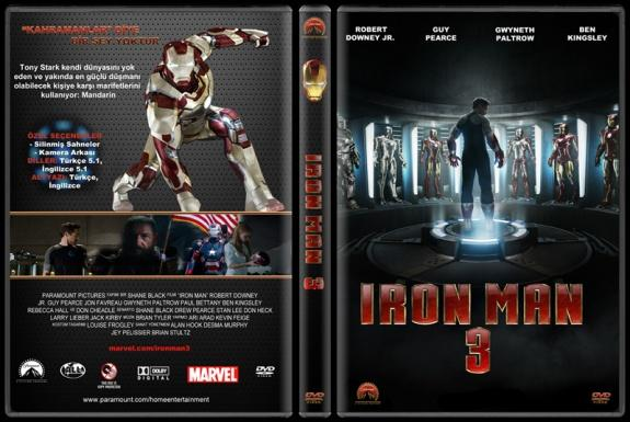 Iron Man 3 (Demir Adam 3) - Custom Dvd Cover - Türkçe [2013]-3jpg