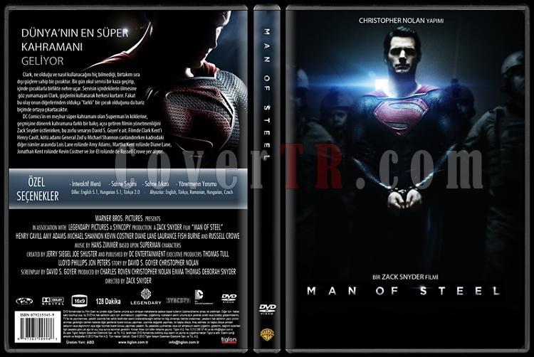 Man of Steel (Çelik Adam) - Custom Dvd Cover - Türkçe [2013]-cejpg
