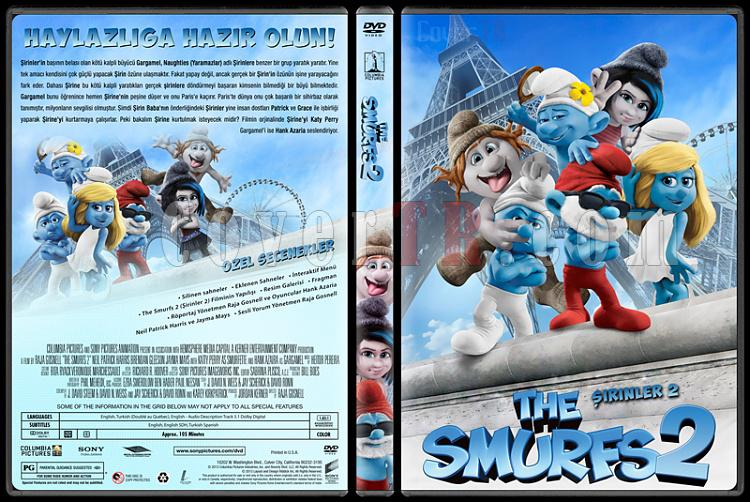 The Smurfs 2 (Şirinler 2) - Custom Dvd Cover - Türkçe [2013]-sirinler-2-izlemejpg