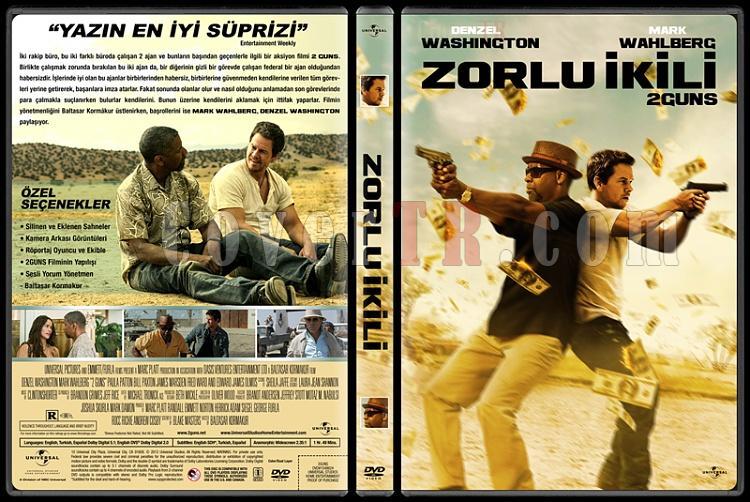 2 Guns (Zorlu İkili) - Custom Dvd Cover - Türkçe [2013]-trjpg