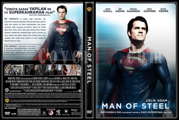 Man of Steel (Çelik Adam) - Custom Dvd Cover - Türkçe [2013]-trjpg