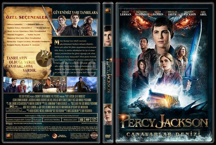 Percy Jackson: Sea of Monsters (Percy Jackson: Canavarlar Denizi) - Custom Dvd Cover - Türkçe [2013]-izlemejpg