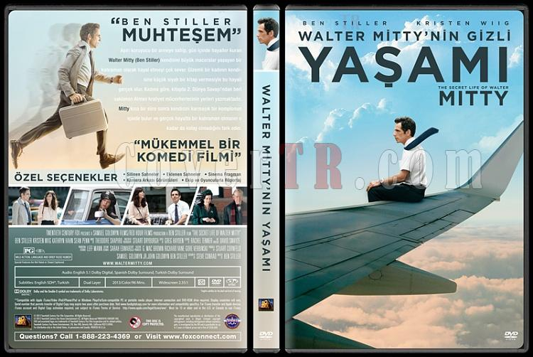 The Secret Life of Walter Mitty  (Walter Mitty´nin Gizli Yaşamı) - Custom Dvd Cover - Türkçe [2013]-izlemejpg