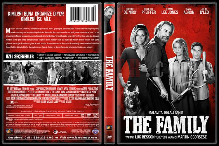 The Family  (Malavita: Belalı Tanık) - Custom Dvd Cover - Türkçe [2013]-v2jpg