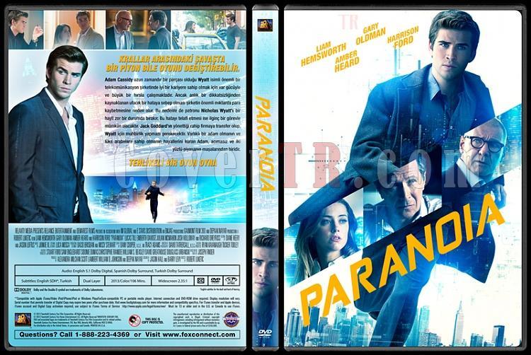 Paranoia (Paranoya) - Custom Dvd Cover - Türkçe [2013]-trjpg