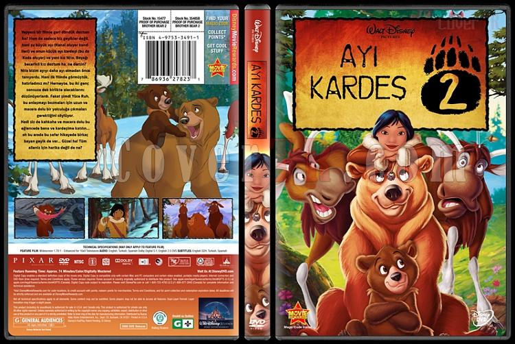 Brother Bear 2  (Ayı Kardeş 2) - Custom Dvd Cover - Türkçe [2006]-brother-bear-2jpg