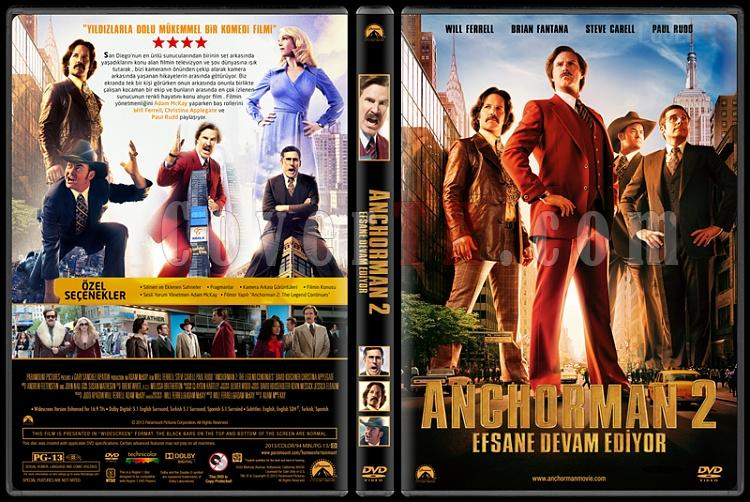 Anchorman 2 The Legend Continues (Çılgın Haber Ekibi) - Custom Dvd Cover - Türkçe [2013]-covertr-dvdjpg