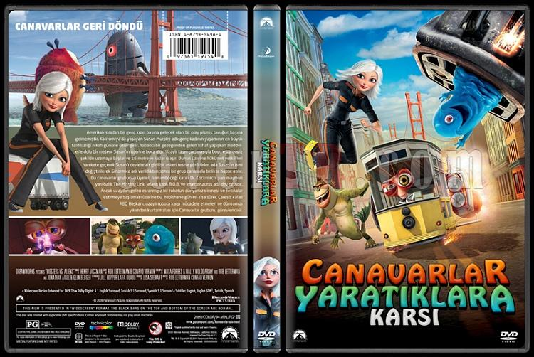 Monsters Vs. Aliens (Canavarlar Yaratıklara Karşı) - Custom Dvd Cover - Türkçe [2009]-covertr-dvdjpg