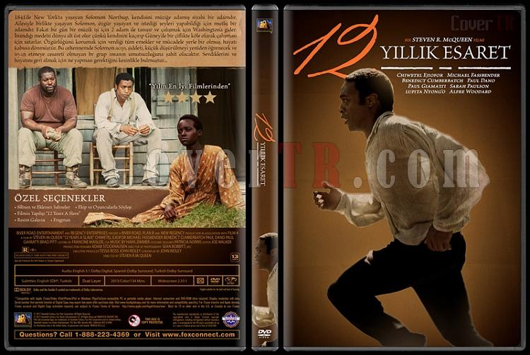 12 Years a Slave (12 Yıllık Esaret) - Custom Dvd Cover - Türkçe [2013]-covertr-dvdjpg