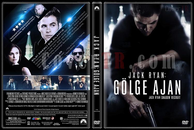 Jack Ryan: Shadow Recruit (Jack Ryan: Gölge Ajan) - Custom Dvd Cover - Türkçe [2014]-v2jpg