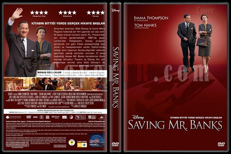 Saving Mr. Banks - Custom Dvd Cover - Türkçe [2013]-covertr-dvdjpg