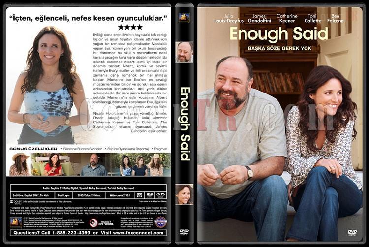 Enough Said (Başka Söze Gerek Yok) - Custom Dvd Cover - Türkçe [2013]-covertr-dvdjpg
