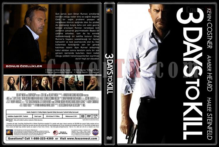 3 Days to Kill (Son Üç Gün) - Custom Dvd Cover - Türkçe [2014]-3-days-killjpg