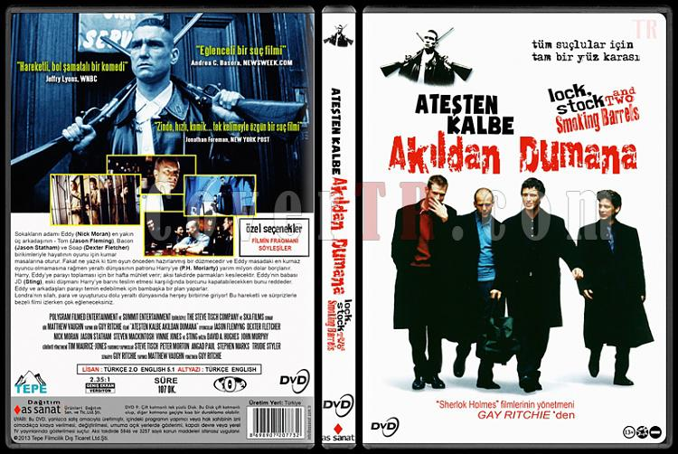 Lock, Stock and Two Smoking Barrels Ateşten Kalbe, Akıldan Dumana) - Custom Dvd Cover - Türkçe [1998]-standardjpg