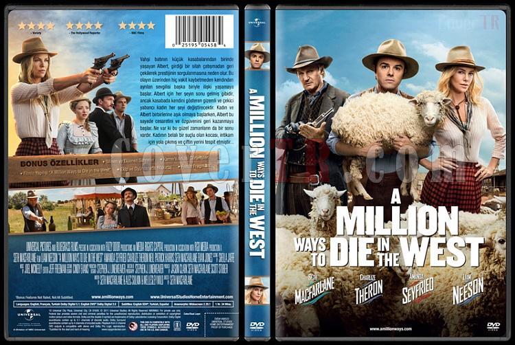 A Million Ways to Die in the West - Custom Dvd Cover - Türkçe [2014]-covertr-dvdjpg