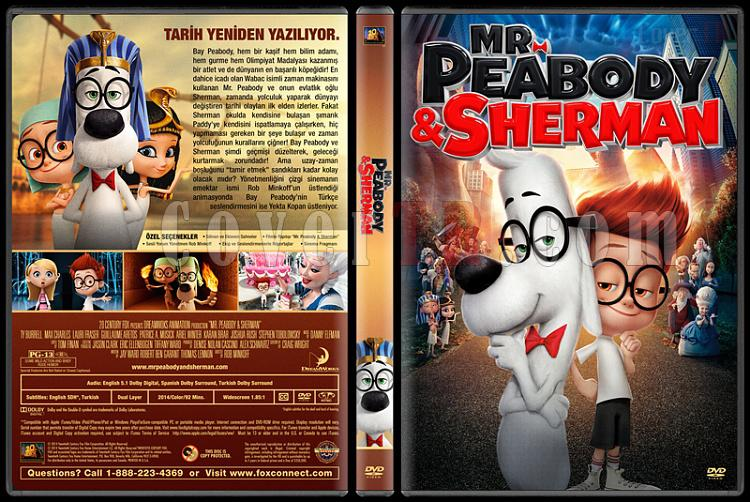 Mr. Peabody & Sherman (Bay Peabody ve Merakli Sherman: Zamanda Yolculuk) Custom Dvd Cover - Türkçe [2014]-covertr-dvdjpg