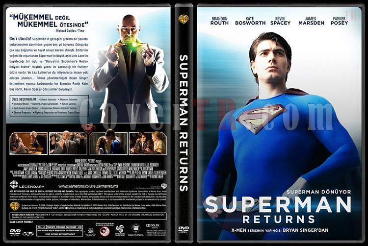 Superman Returns (Süperman Dönüyor) Custom Dvd Cover - Türkçe-covertr-dvdjpg