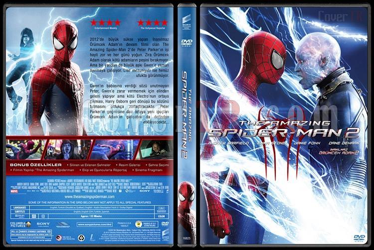 The Amazing Spiderman 2 (İnanılmaz Örümcek Adam 2) - Custom Dvd Cover - Türkçe [2014]-2jpg
